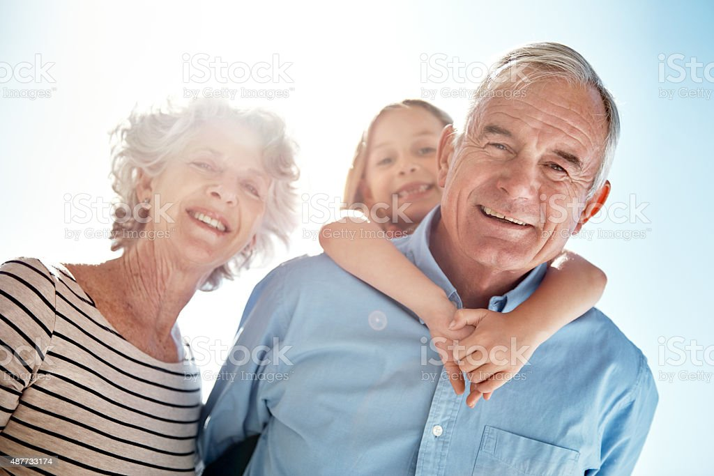 Grandchildren are a blessing! stock photo