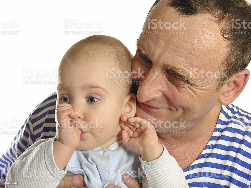 granddaughter with grandfather royalty-free stock photo