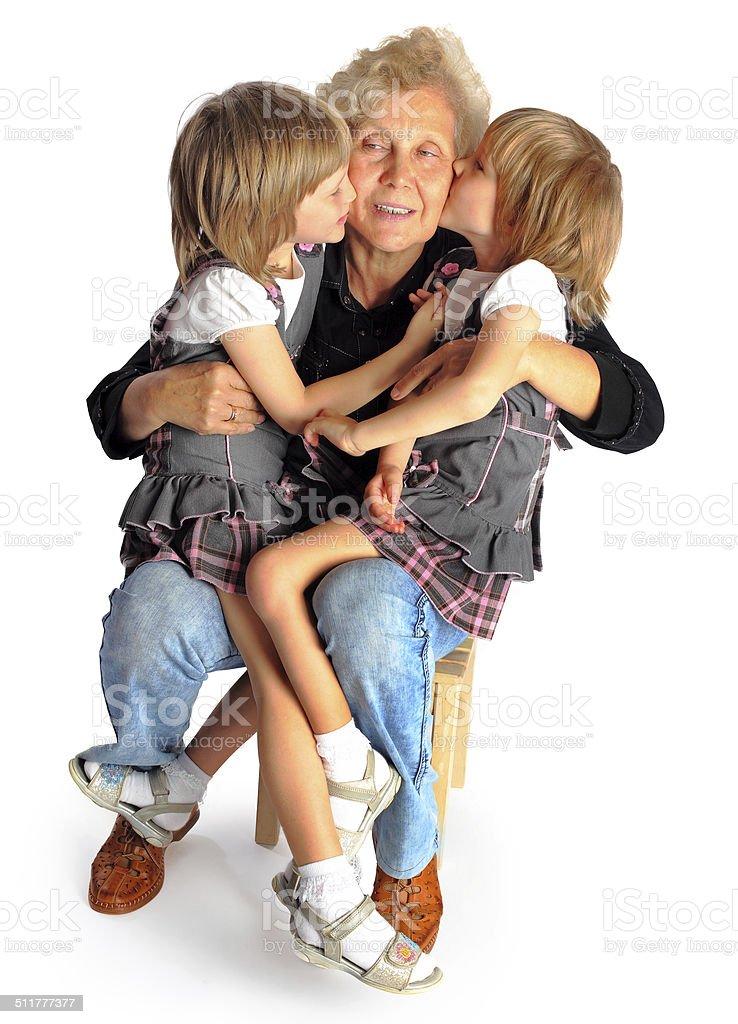 granddaughters et de Grand-mère photo libre de droits