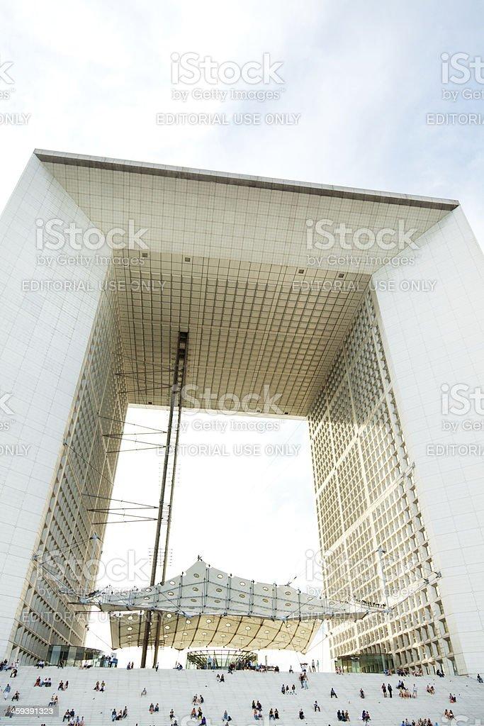 Grande Arche, La Defense, Paris stock photo