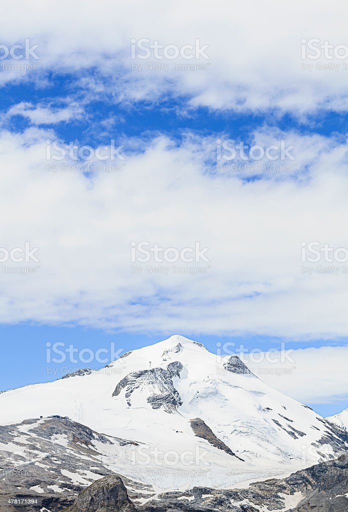 Grande Motte glacier stock photo