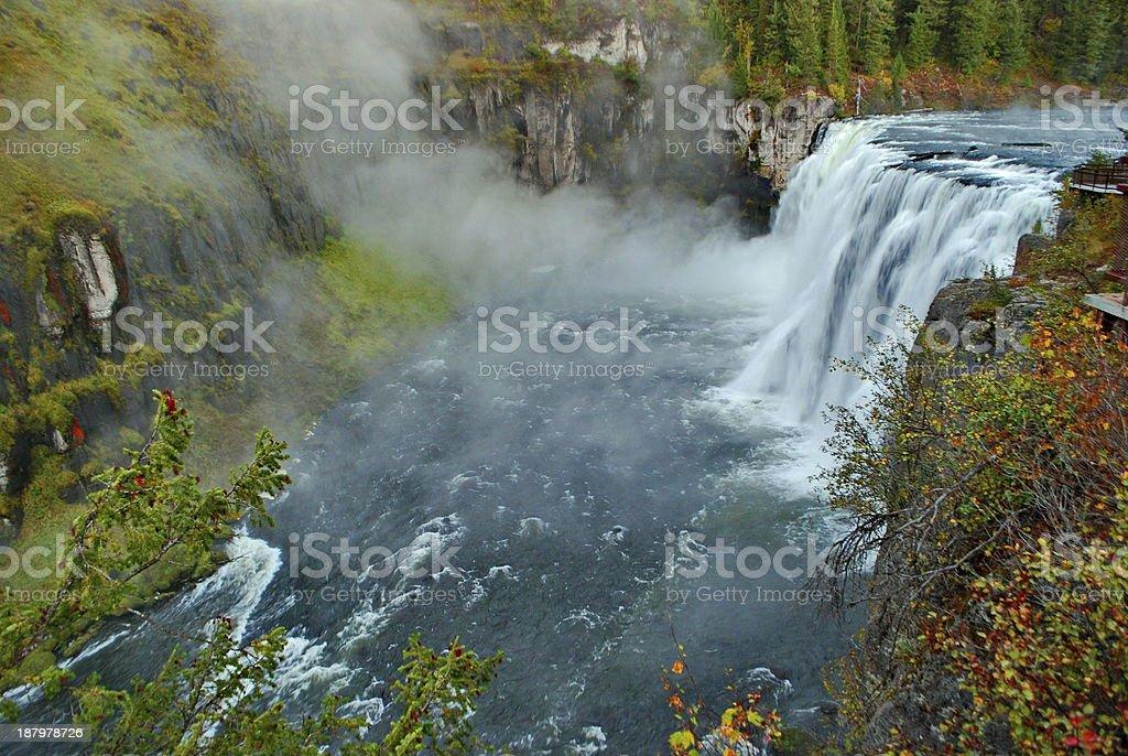Grandeur of Upper Mesa Falls stock photo