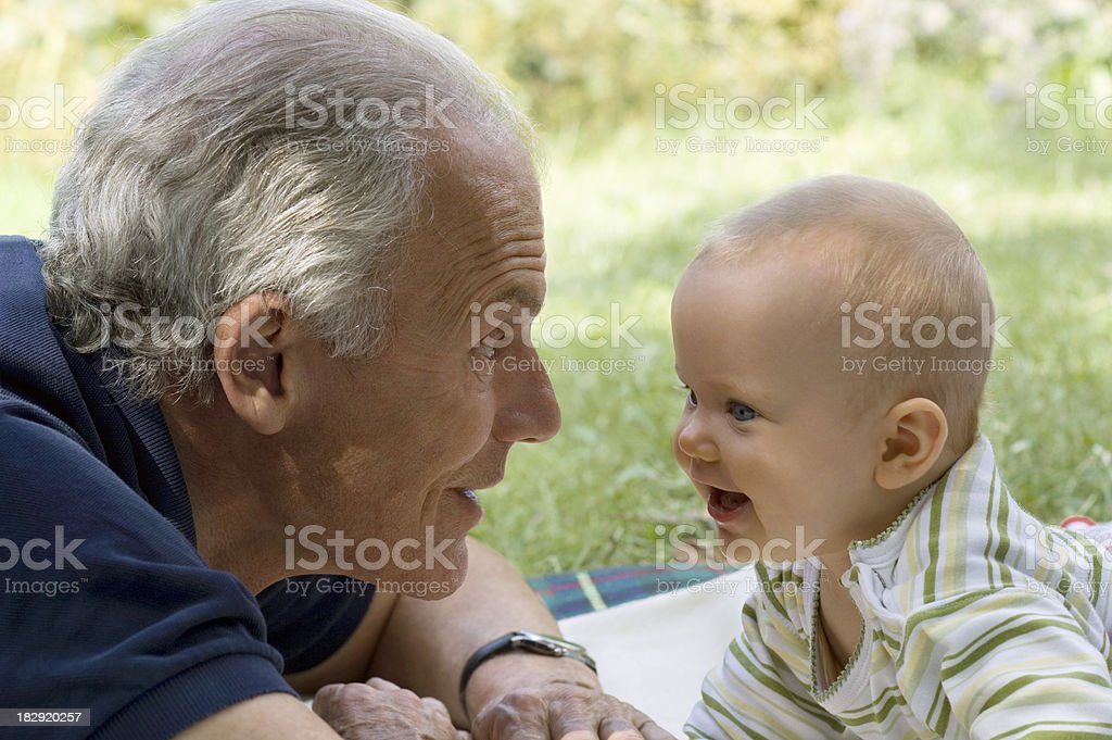 Grandfather and Baby royalty-free stock photo