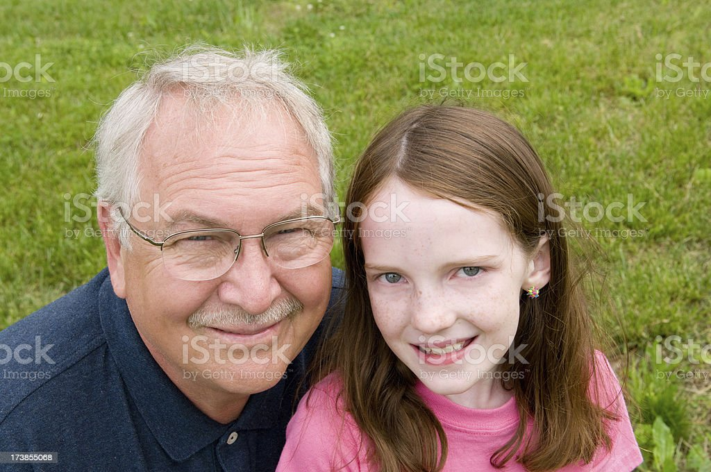 Grandfather and Grandaughter royalty-free stock photo