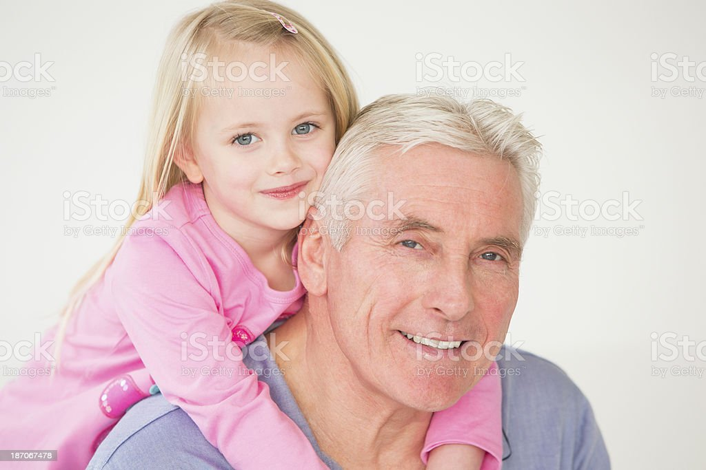 Grandfather and Grandchild royalty-free stock photo
