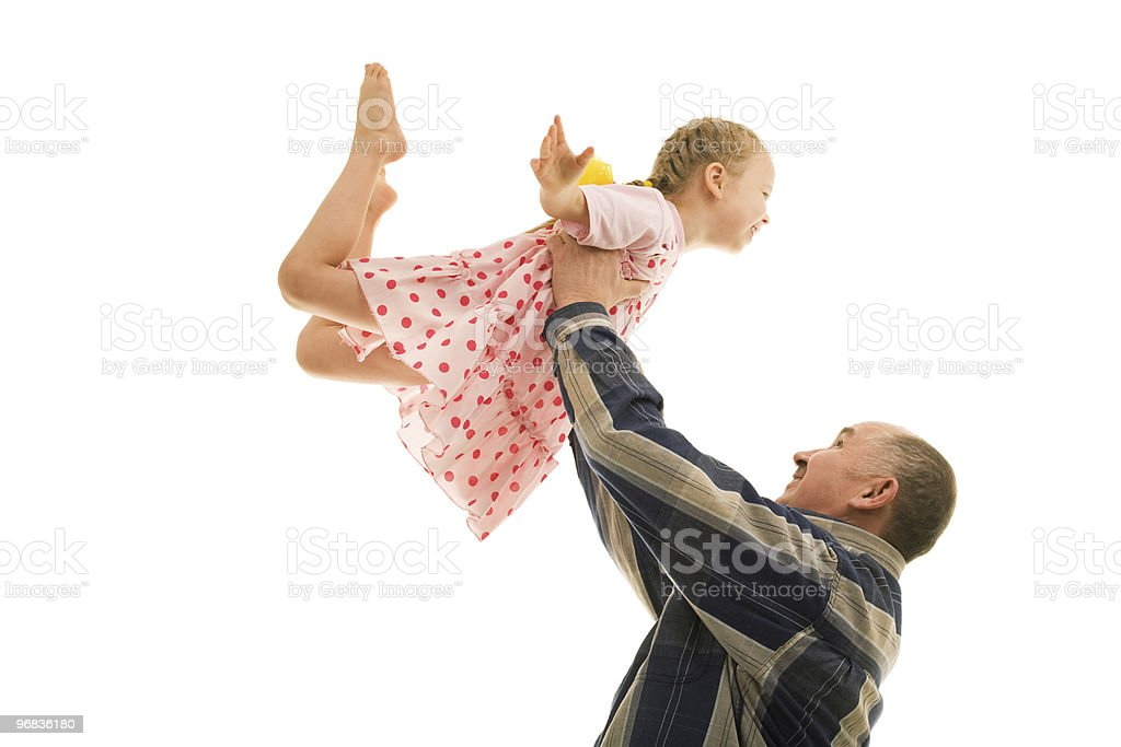 Grandfather and grandchild. royalty-free stock photo