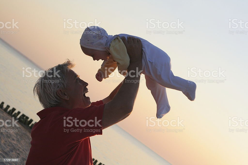 grandfather and grandson royalty-free stock photo