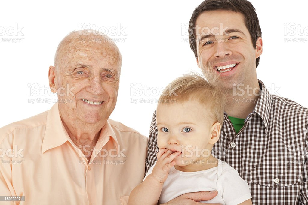 Grandfather, Father, Son stock photo