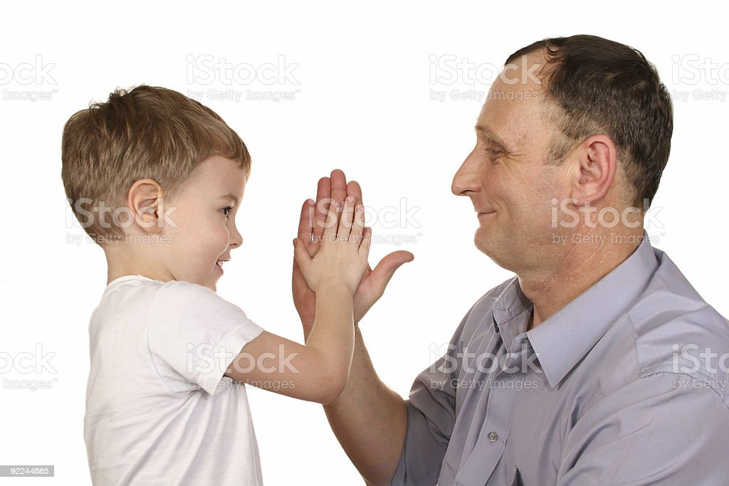 grandfather grandson clap hand royalty-free stock photo