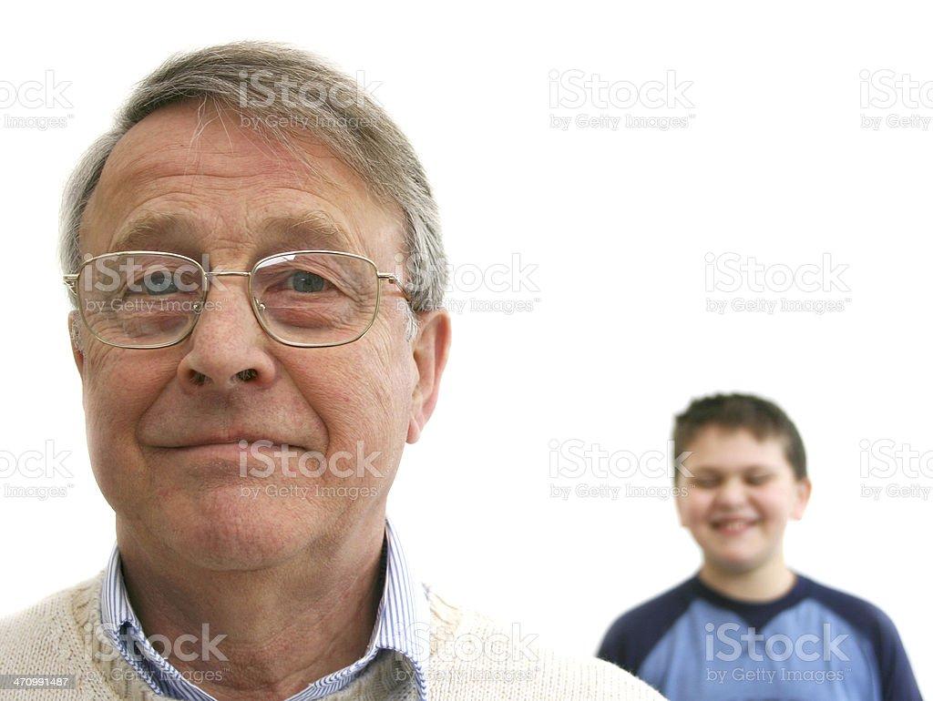 Grandfather & Grandson royalty-free stock photo