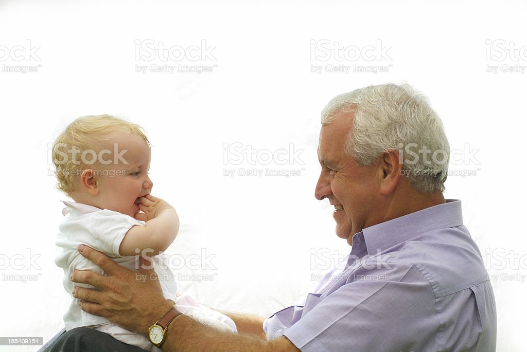 grandfather holding grandaughter royalty-free stock photo