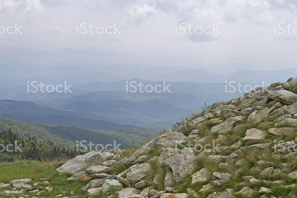 Grandfather Mountain View royalty-free stock photo