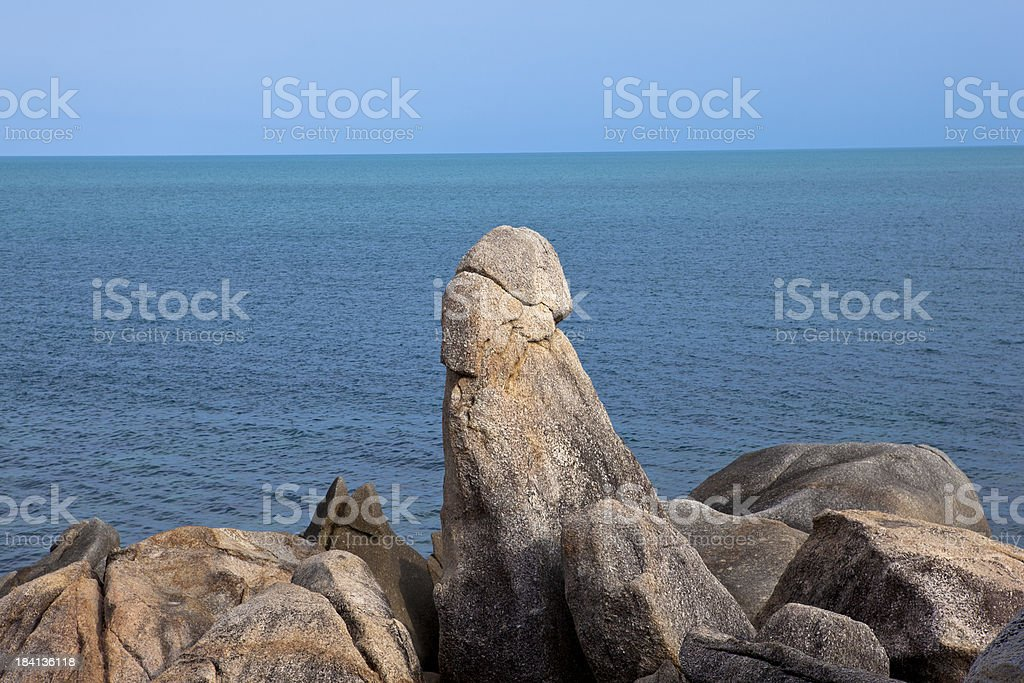 grandfather rock, lamai beach, ko samui, thailand royalty-free stock photo
