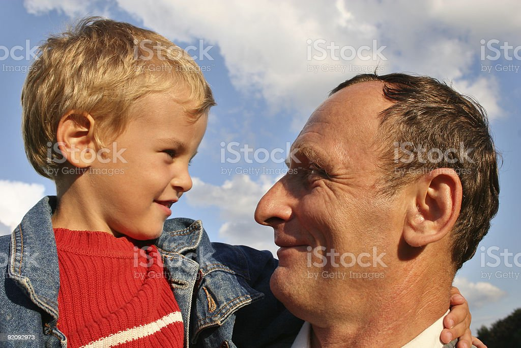 grandfather with boy 2 royalty-free stock photo