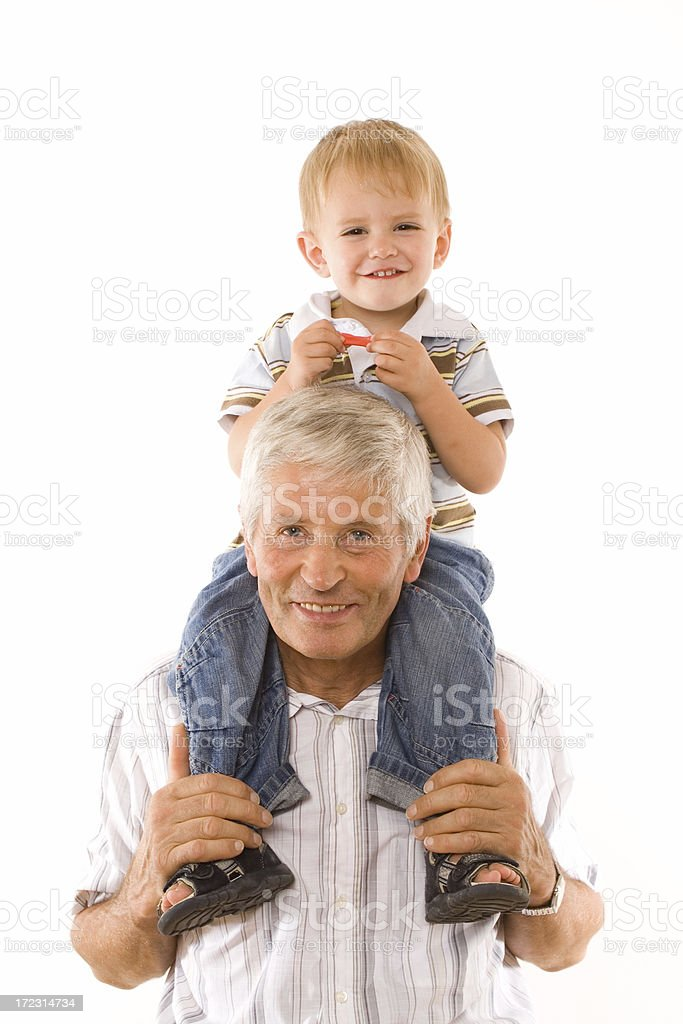 Grandfather with Grandchild royalty-free stock photo