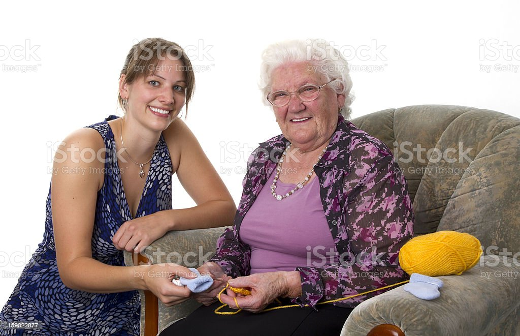 Grandma and Woman royalty-free stock photo