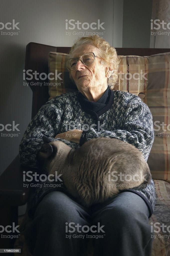 grandma at home 2 royalty-free stock photo