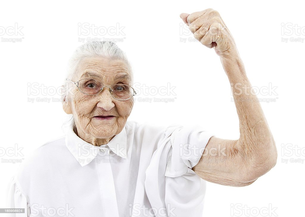 grandma does not give up stock photo