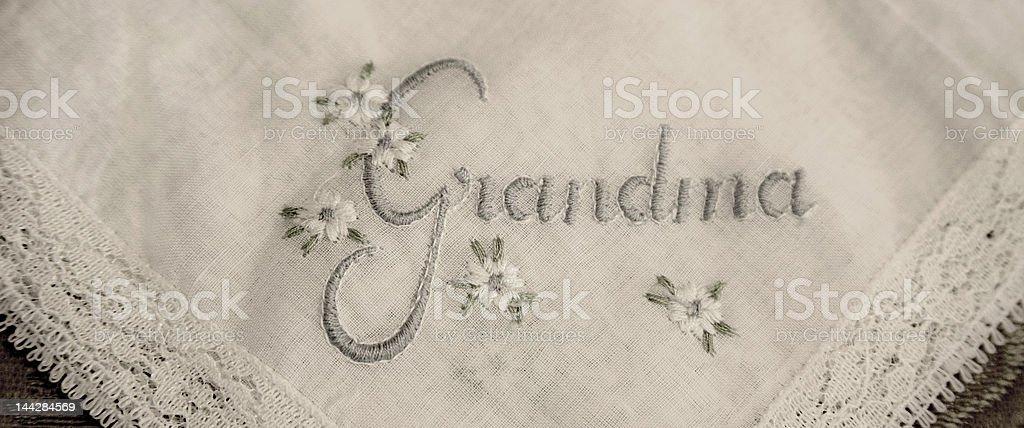Grandma Hanky royalty-free stock photo