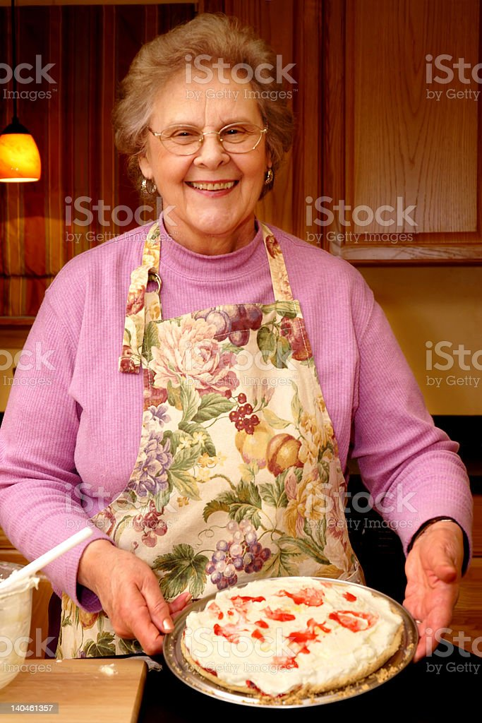Grandma Made a Cherry Pie royalty-free stock photo