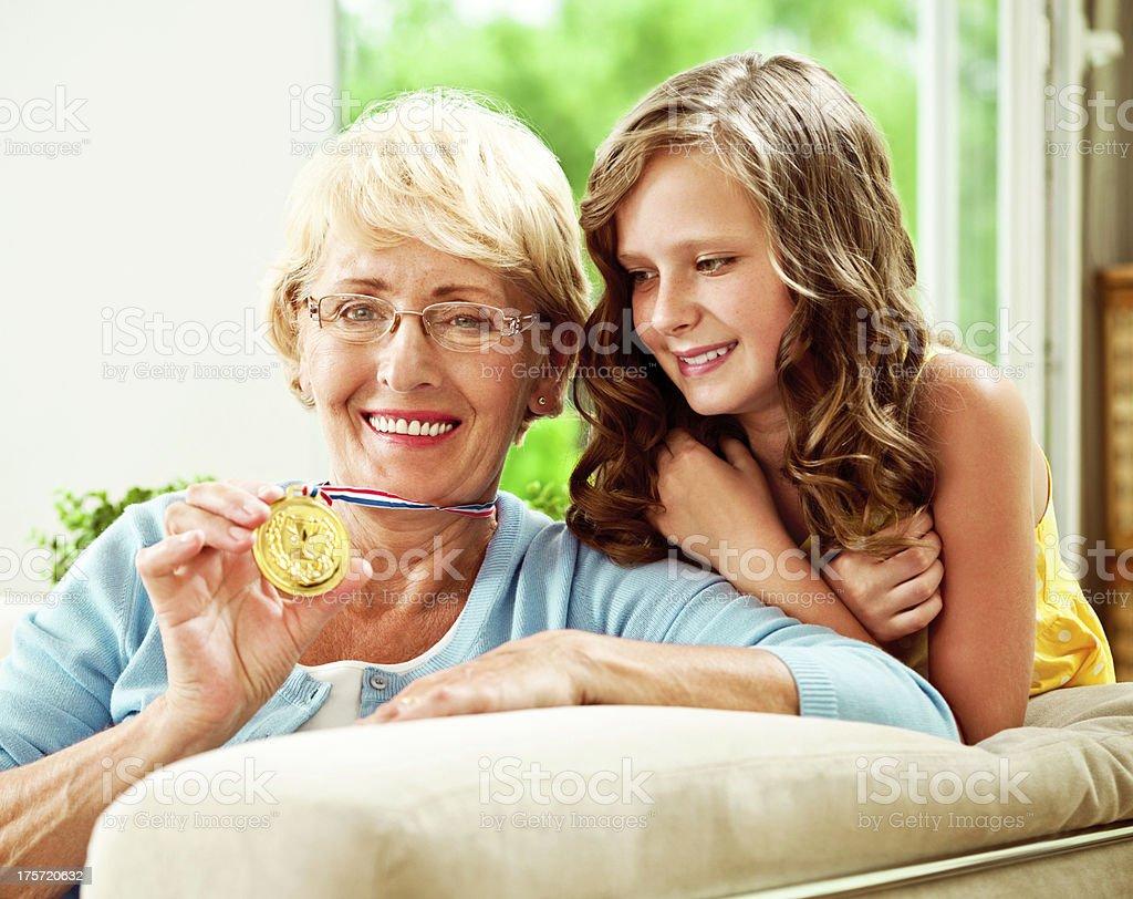 Grandma Winner royalty-free stock photo