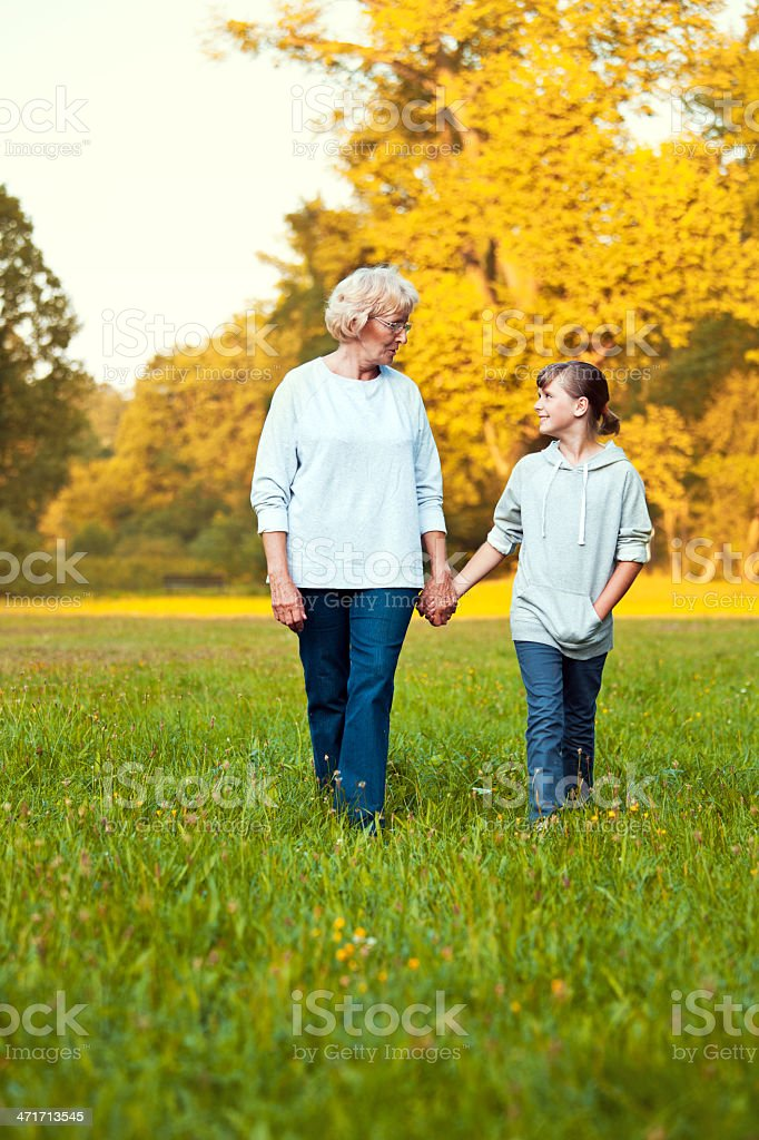 Grandma with granddaughter royalty-free stock photo