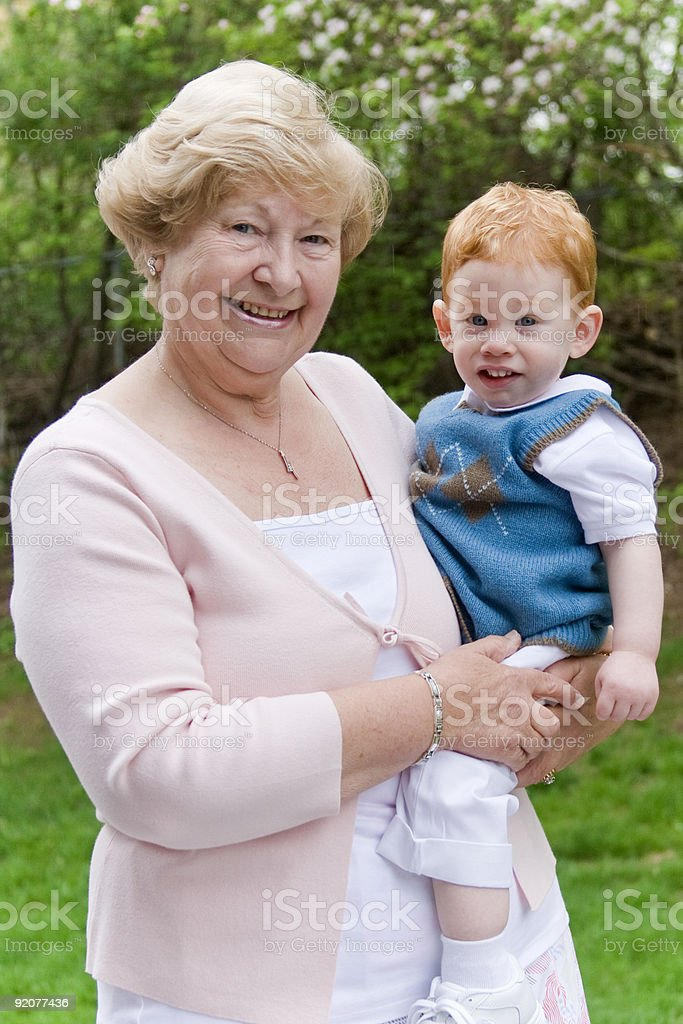 Grandma with grandson royalty-free stock photo