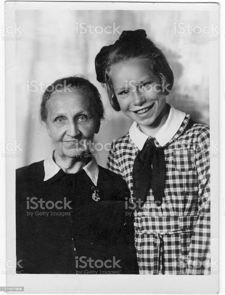 Grandma with her granddaughter royalty-free stock photo
