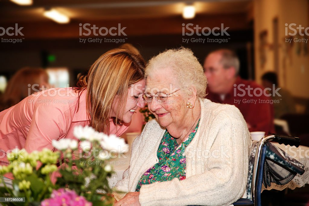 Grandma's 90th birthday royalty-free stock photo
