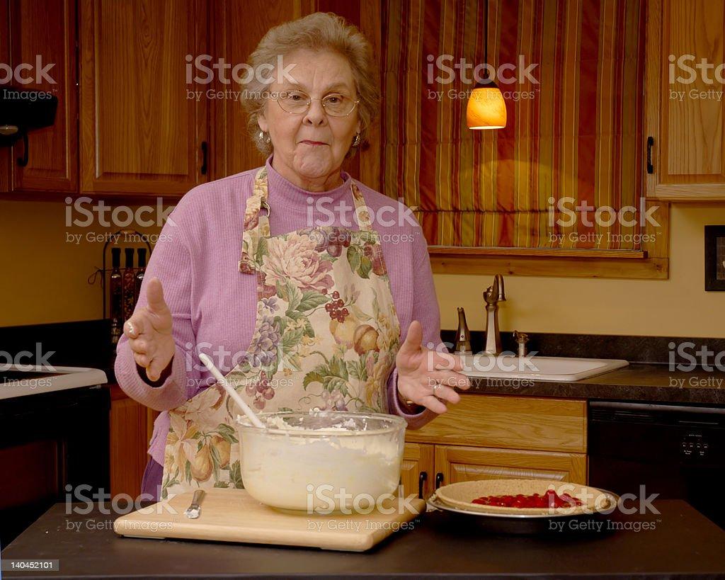Grandma's Dessert Demo royalty-free stock photo