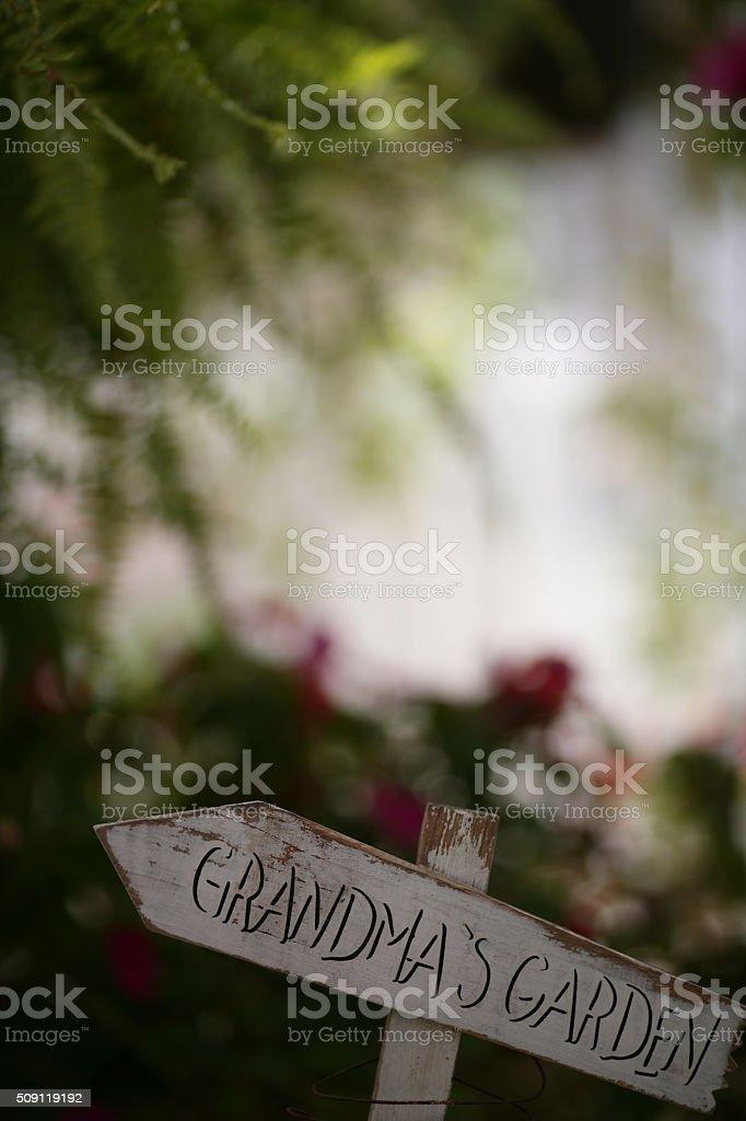 Grandma's garden stock photo
