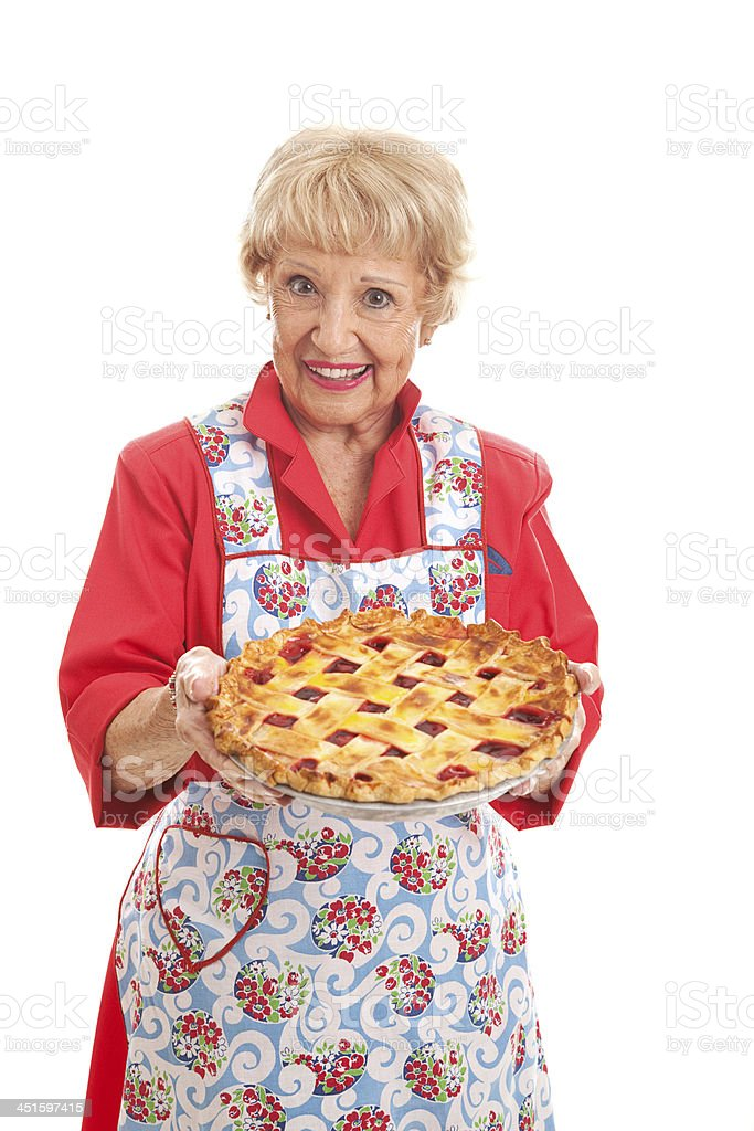 Grandmas Homemade Cherry Pie stock photo