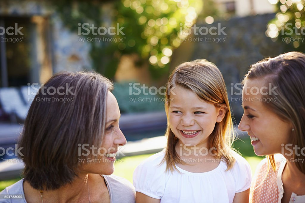 Grandmas know how to make you smile royalty-free stock photo