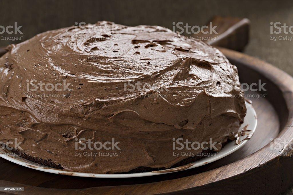 Grandma's Old Fashioned Chocolate Fudge Cake stock photo