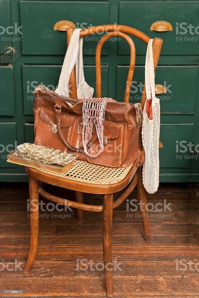 Grandma's Shopping Bag stock photo