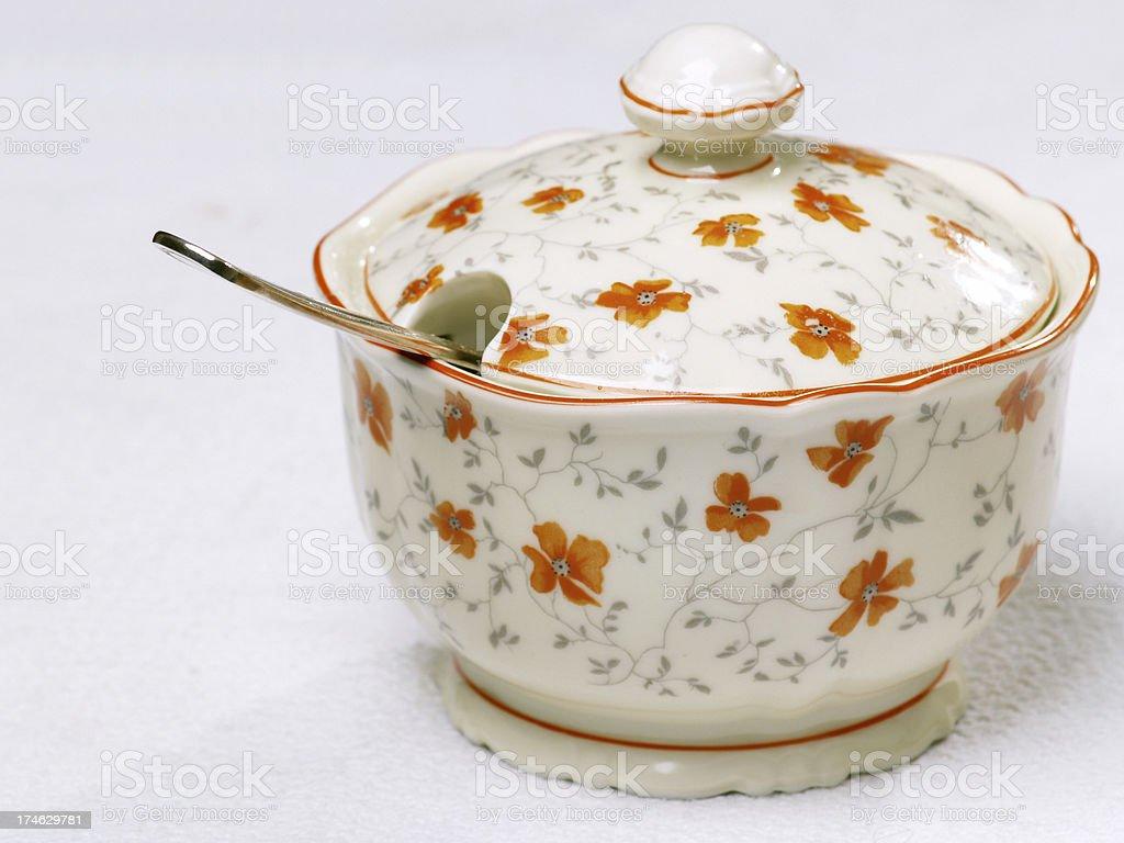 grandmas sugar bowl stock photo