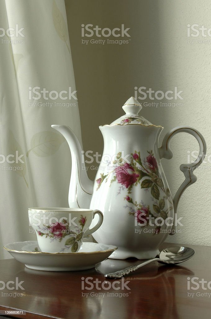 Grandma's Tea Set royalty-free stock photo