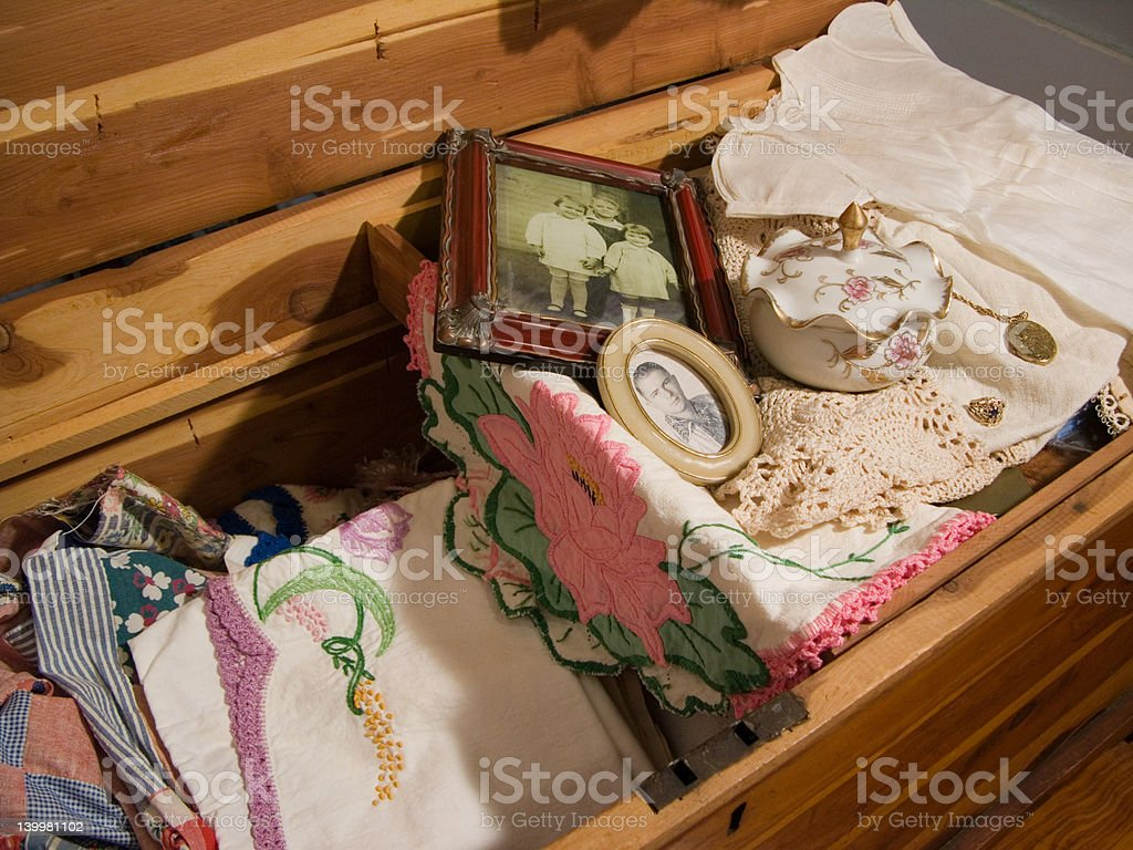 Grandma's Treasures royalty-free stock photo