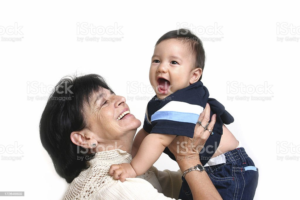 Grandmother and Baby stock photo
