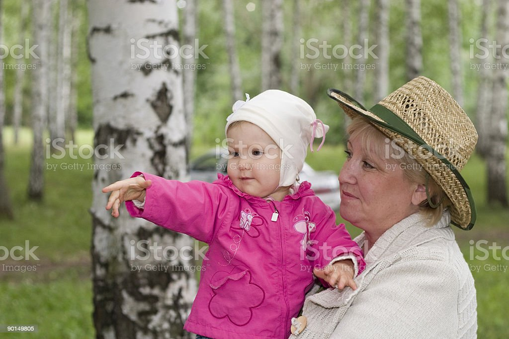 Grandmother and baby royalty-free stock photo