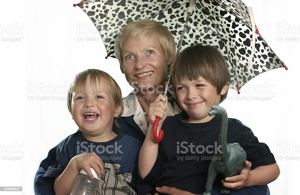 Grandmother and Children royalty-free stock photo