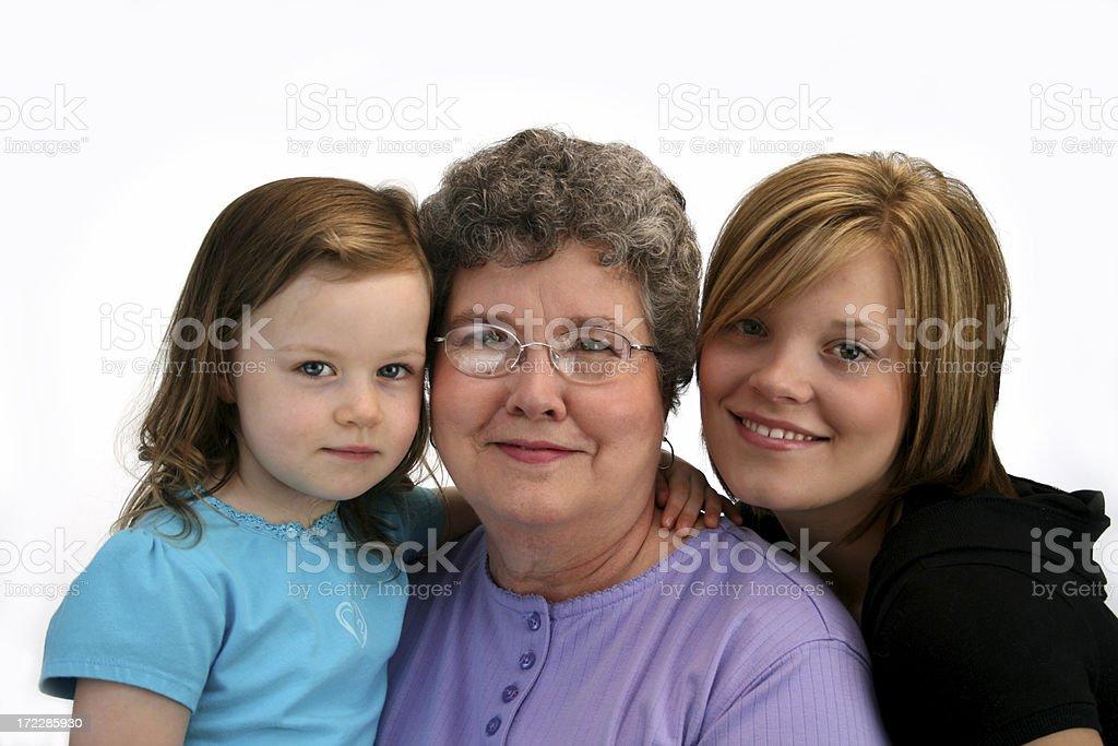 Grandmother and Grandchildren royalty-free stock photo