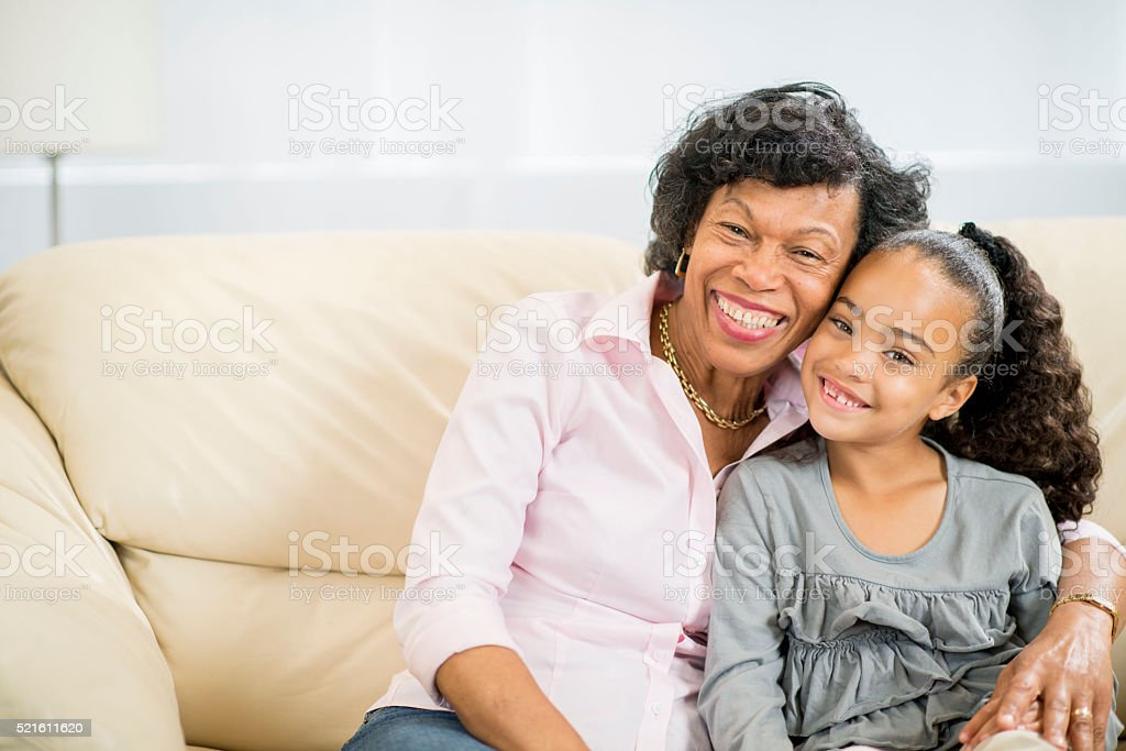 Grandmother and Granddaughter Spending Time Together stock photo