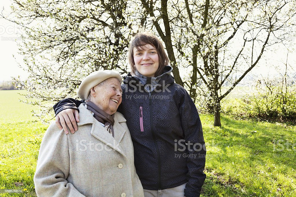 grandmother and granddaughter togetherness royalty-free stock photo