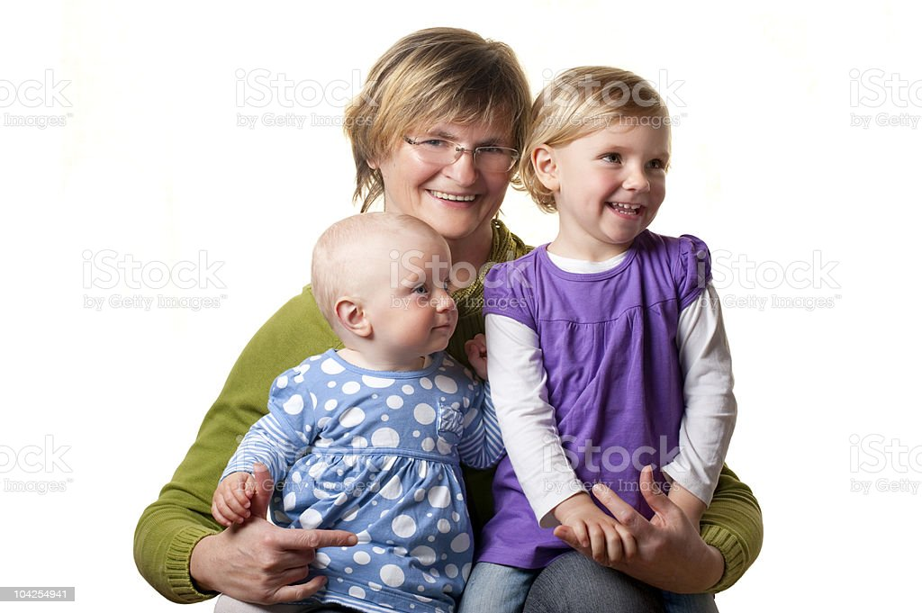 Grandmother and her Granddaughters royalty-free stock photo