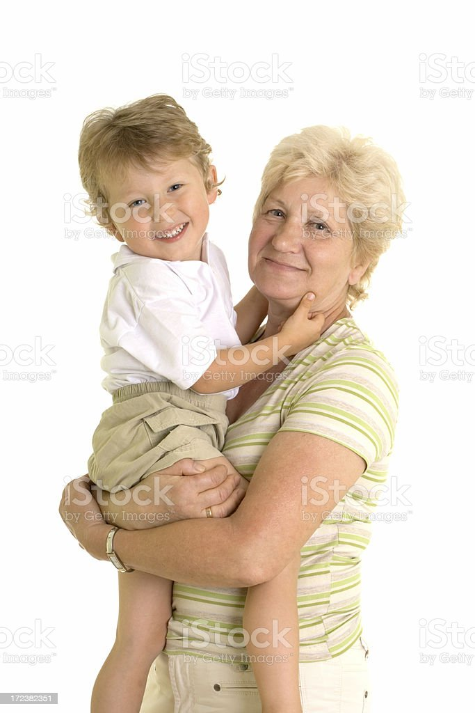 grandmother and her grandson royalty-free stock photo