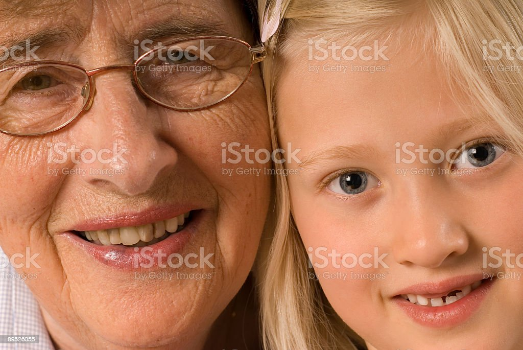 Grandmother and me, #2 royalty-free stock photo