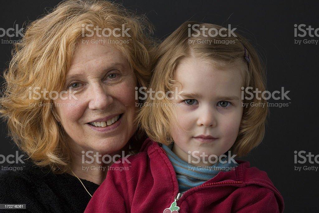 Grandmother & Granddaughter royalty-free stock photo