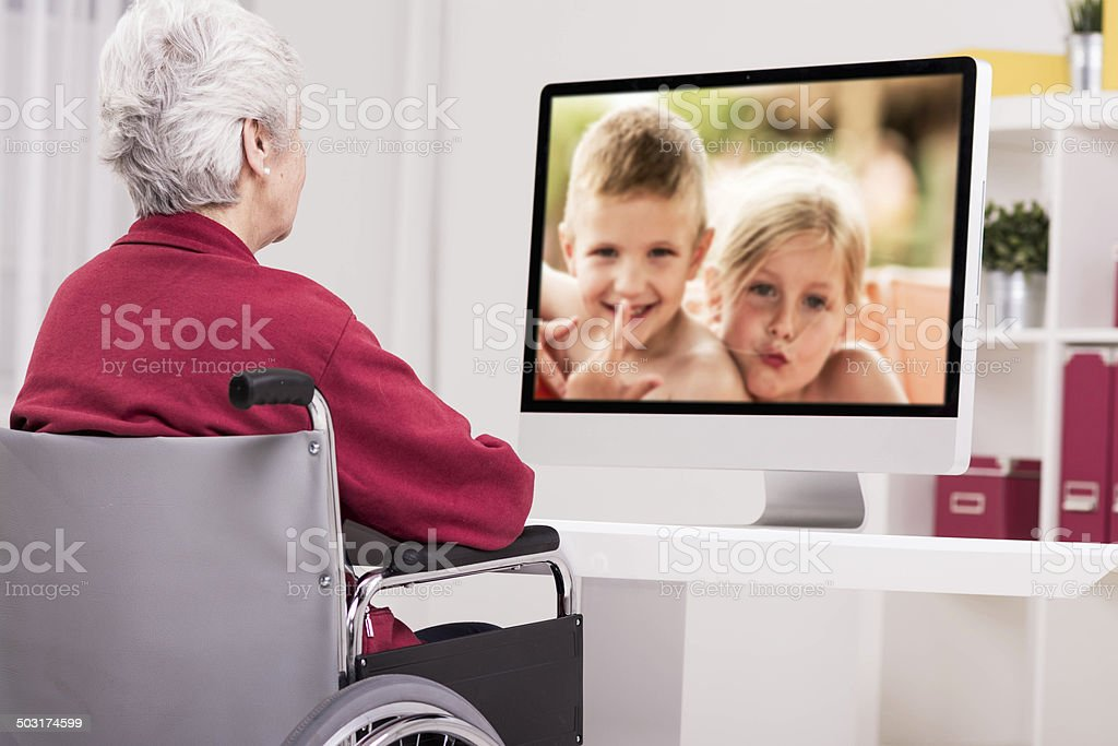 Image result for kid video calling grand parent