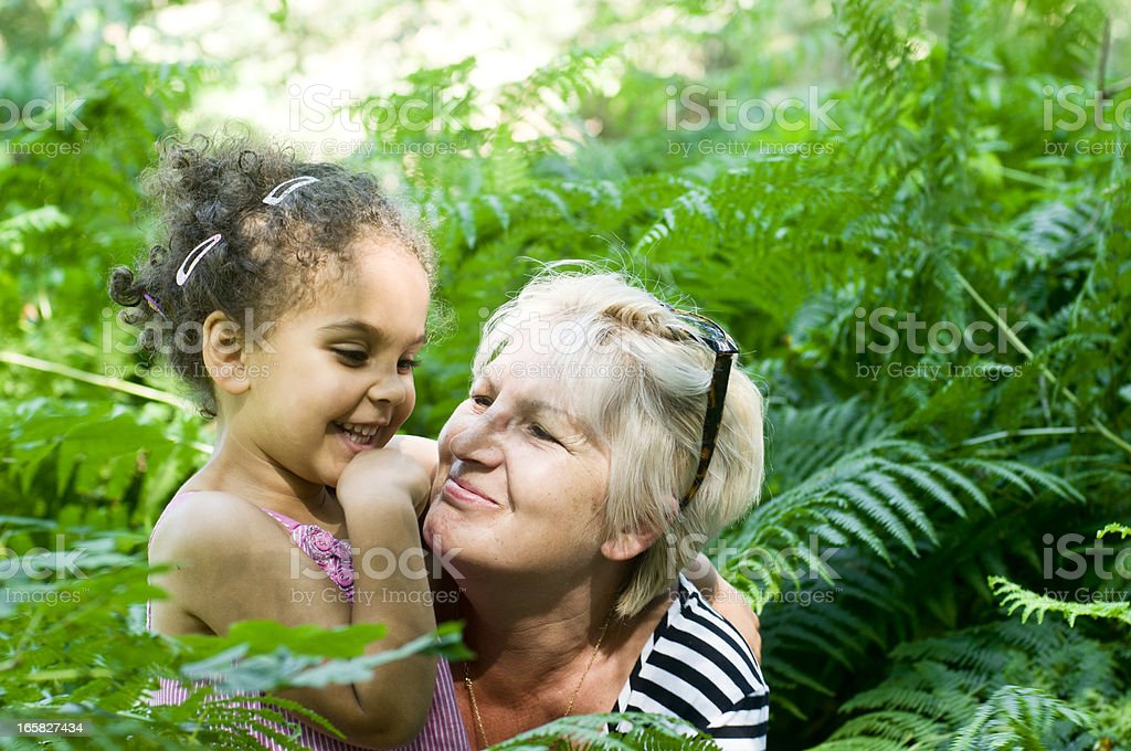 Grandmother Holding Her Grandchild royalty-free stock photo